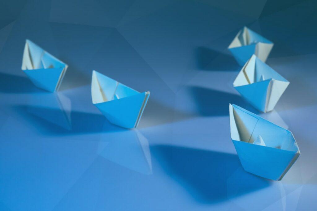 image de bateaux symbolisant  des autistes dans leur parcours vers et dans l'emploi